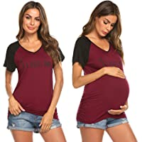 096p Happy Mama Damen Umstandsmoden Top Still T-Shirt Lagendesign rmellos