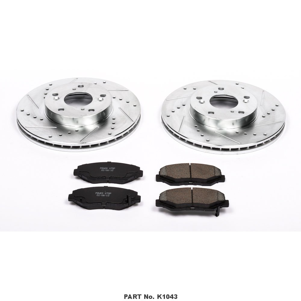 Power Stop K1043 Front Z23 Evolution Brake Kit with Drilled/Slotted Rotors and Ceramic Brake Pads by Power Stop (Image #2)