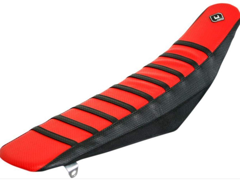 06-09 YAMAHA YZ250F: FLU Designs Pro Rib Seat Cover (BLACK/RED/BLACK)