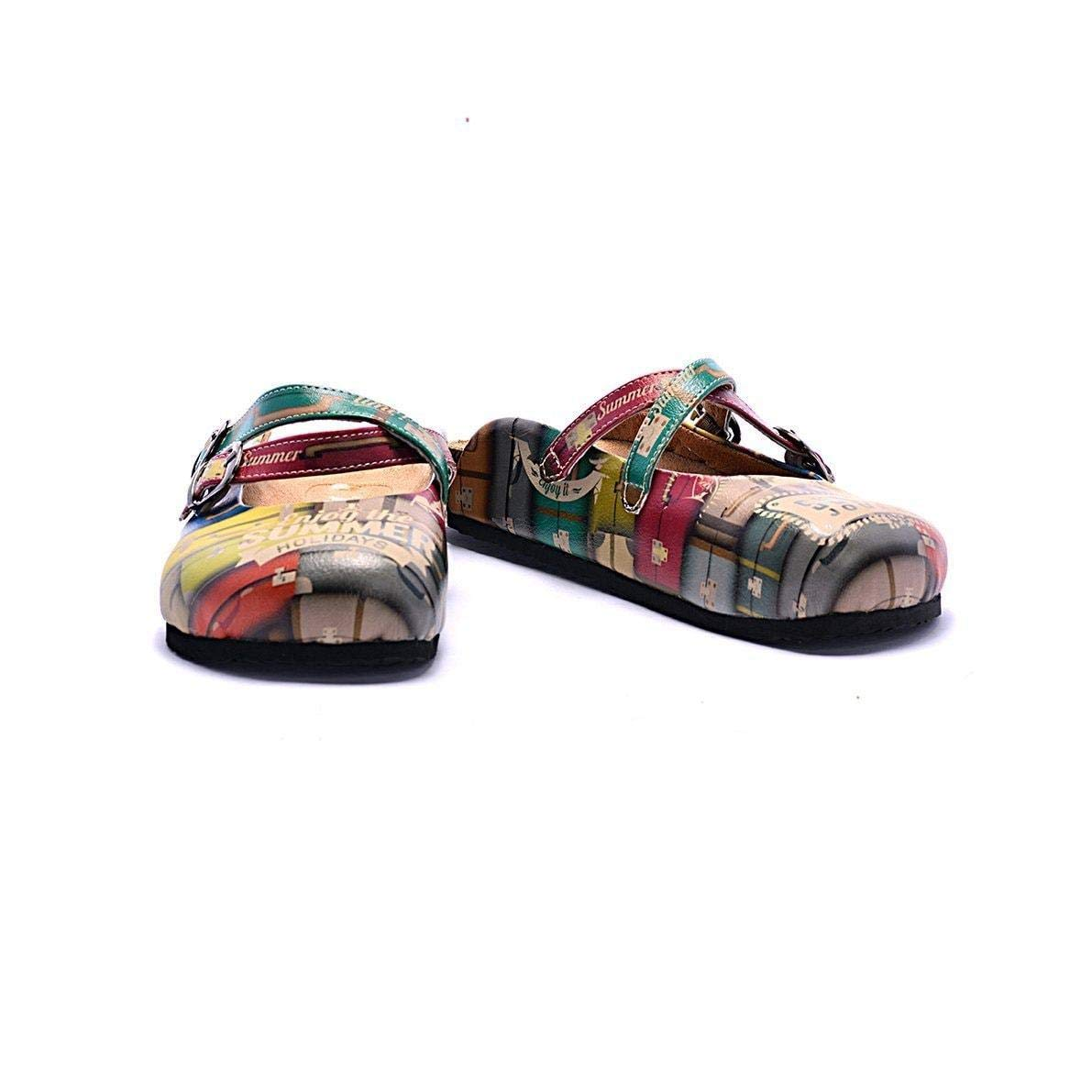 Goby Yellow Suitcase Summer Clogs CAL106