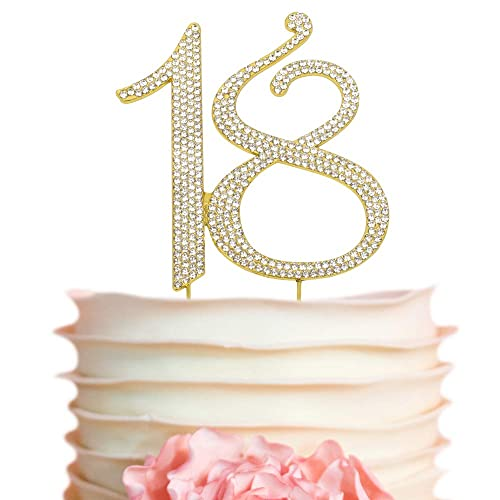 18 GOLD Birthday Cake Topper