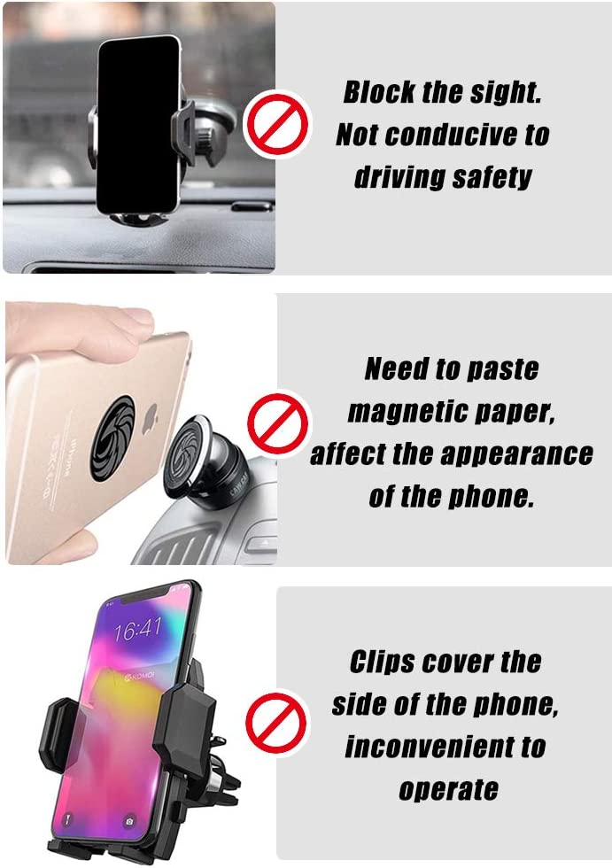 10W//7.5W Car Phone Mount Wireless Charger,360/° Rotation Cell Phone Holder Cradle Washable iPhone 11//11 Pro Max//XR//XS//X,etc Most Smartphone Nanofilm Adsorption,Compatible Galaxy