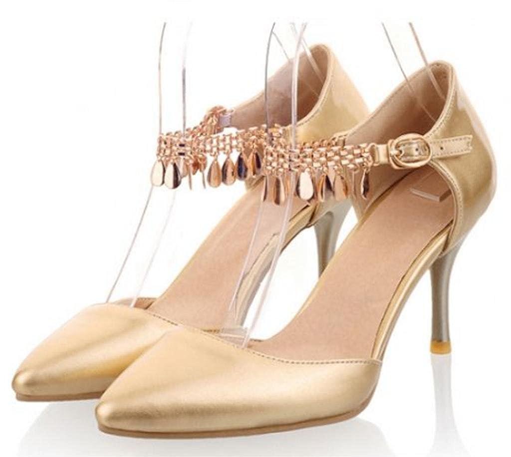 or 39 EU Kitzen Femmes Ladies Sexy Crystal Lace Hidden Platform Chaussures à Talons Haut de Gamme Sandales Chaussures
