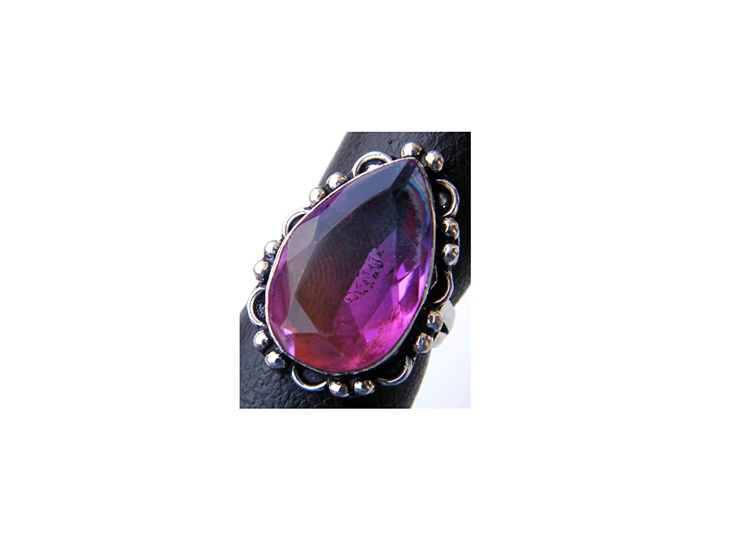 Silver Plated Ring Size- 9.25 USA Handmade Ring Women Jewelry, Thebestjewellery Multi Tourmaline Quartz Ring BRS-5221