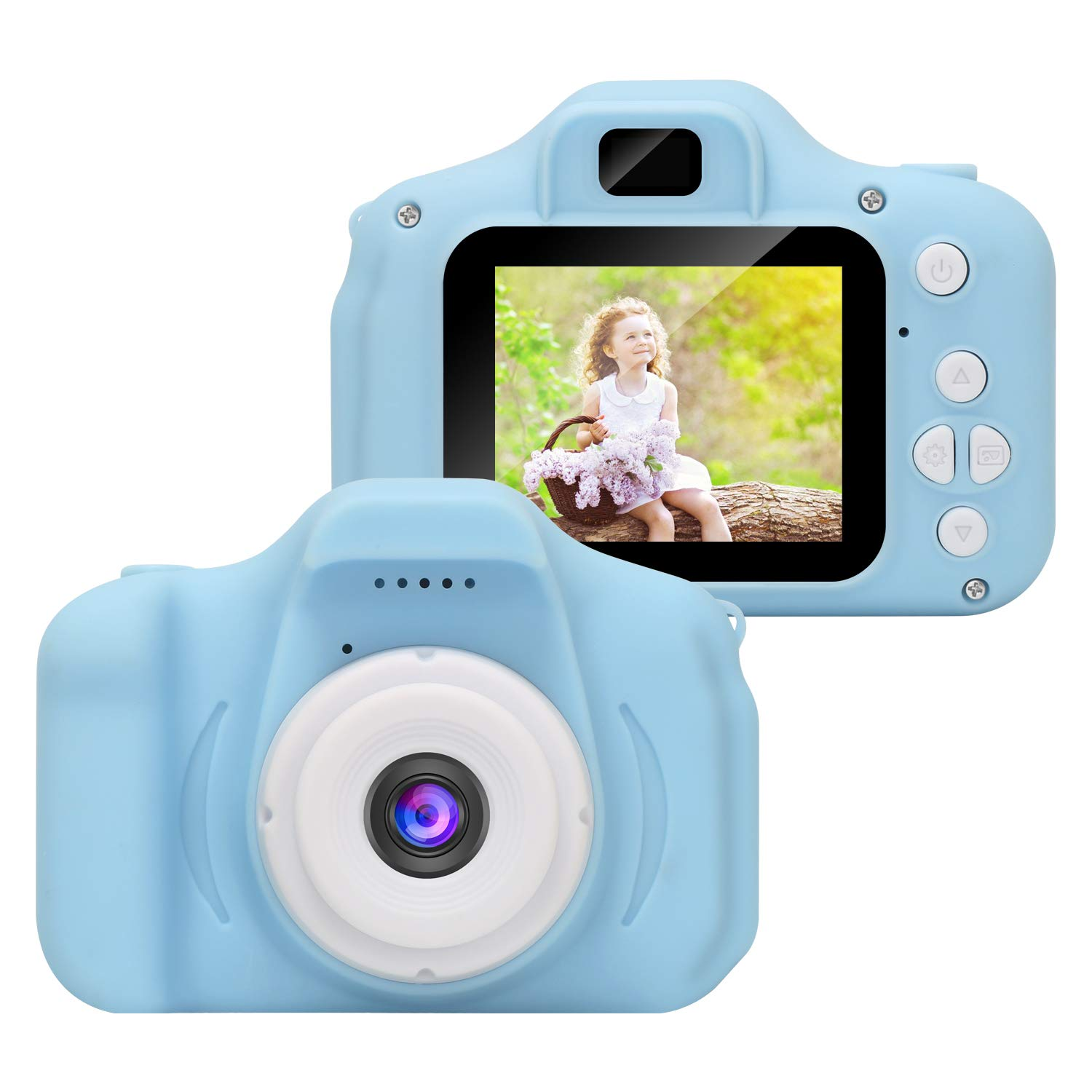 DDGG Kids Digital Camera Toy Camera HD Kids Video Cameras Shockproof Cameras with Soft Silicone Shell Gift for 4-10 Years Old Girls Boys Party Outdoor Play (16G SD Card Included) by DDGG (Image #2)