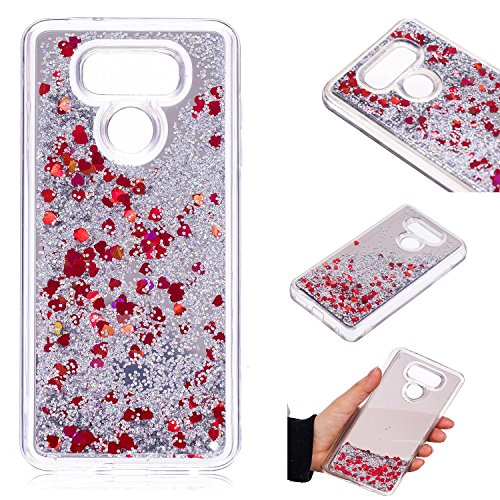 LG G6 Case, KMISS Mirror Luxury Glitter Liquid Floating Bling Sparkle Fashion Creative Design Mirror Bumper Protective Cover LG G6 (Verizon 2017) - 635 Nokia Phone Girls Cases For