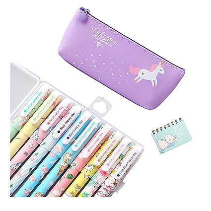 Smilestar - Juego de 10 bolígrafos de unicornio con diseño ...