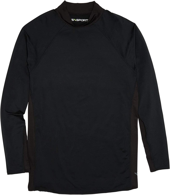 Kingsize Sport Collection Mens Big /& Tall Mock Neck Base Layer Shirt