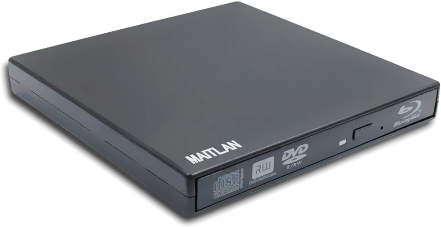 USB External Blu-ray DVD CD Player Super Multi 8X DVD+-R DL CD-R Burner for HP 15 17 Laptop Elitebook 840 850 820 G3 G5 X360 1030 1020 G3 G2 Folio 9470m 9480m, Pop-up Portable Optical Drive