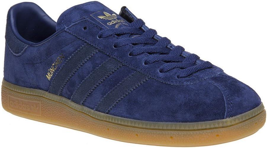adidas Munchen Homme Baskets Mode Bleu: