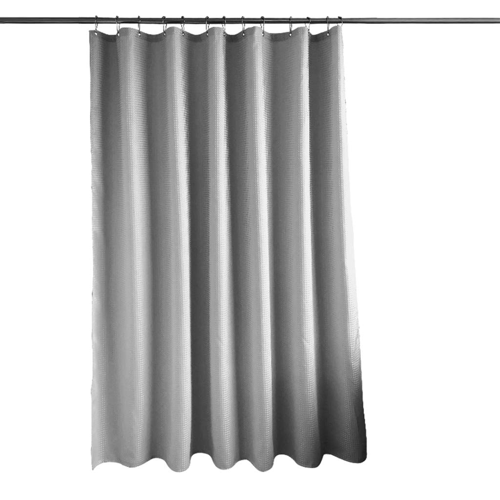 Curtain Plaid Jacquard Polyester Fabric Shower Curtain, Thick Waterproof and Mildewproof Bathroom Shower Partition Curtain Shower Equipment (Size : 1.52m)