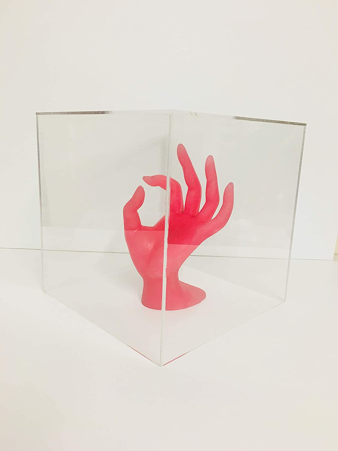Acrylic 5 Sided Box Cube Display Stand 300 x 300 x 300 Counter Top Display.