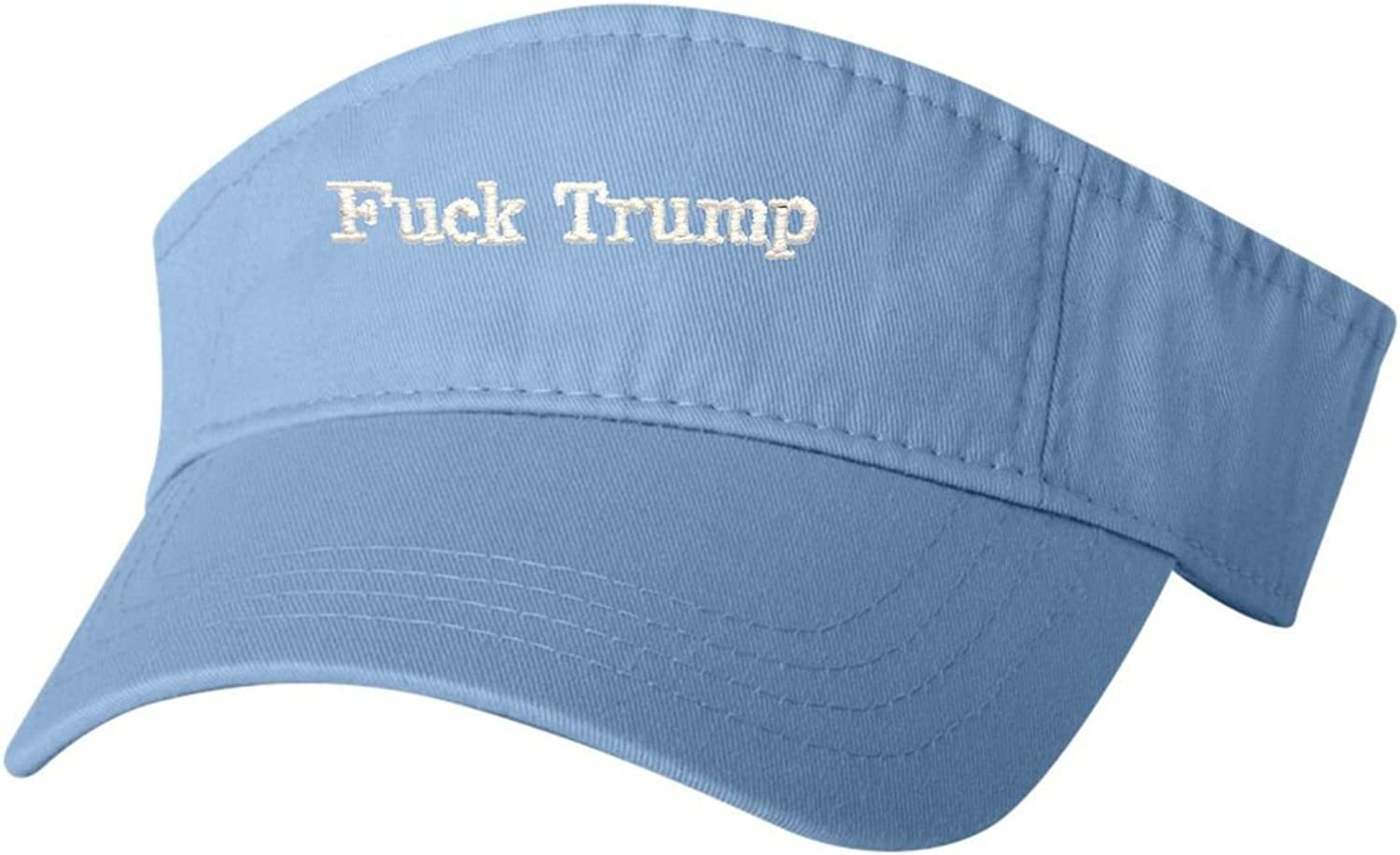 Go All Out Adult Fuck Trump Embroidered Visor Dad Hat