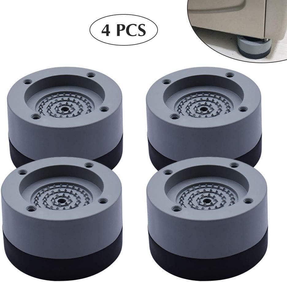 Kitchen-dream 4PCS Almohadillas para pies de lavadora Antivibraciones Arandela para pies Almohadillas para pies antideslizantes de goma para lavadoras y secadoras