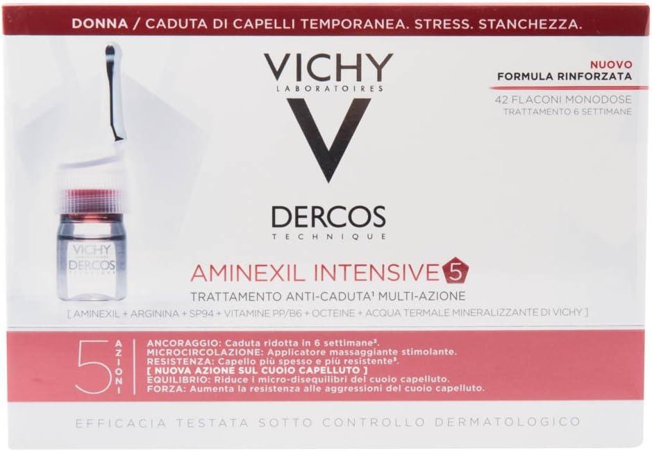 LOREAL Vichy dercos aminexil clinical intensive anticaida mujer 42 monodosis: Amazon.es: Salud y cuidado personal