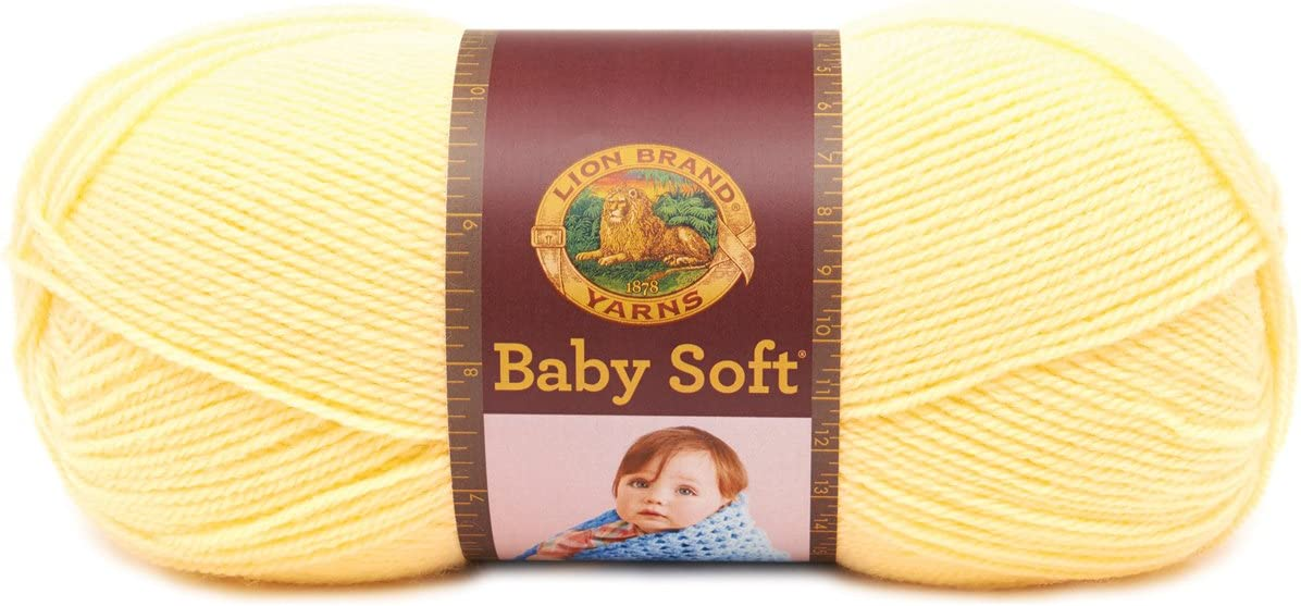 Lion Brand Yarn 920-160 Babysoft Yarn, Lemonade