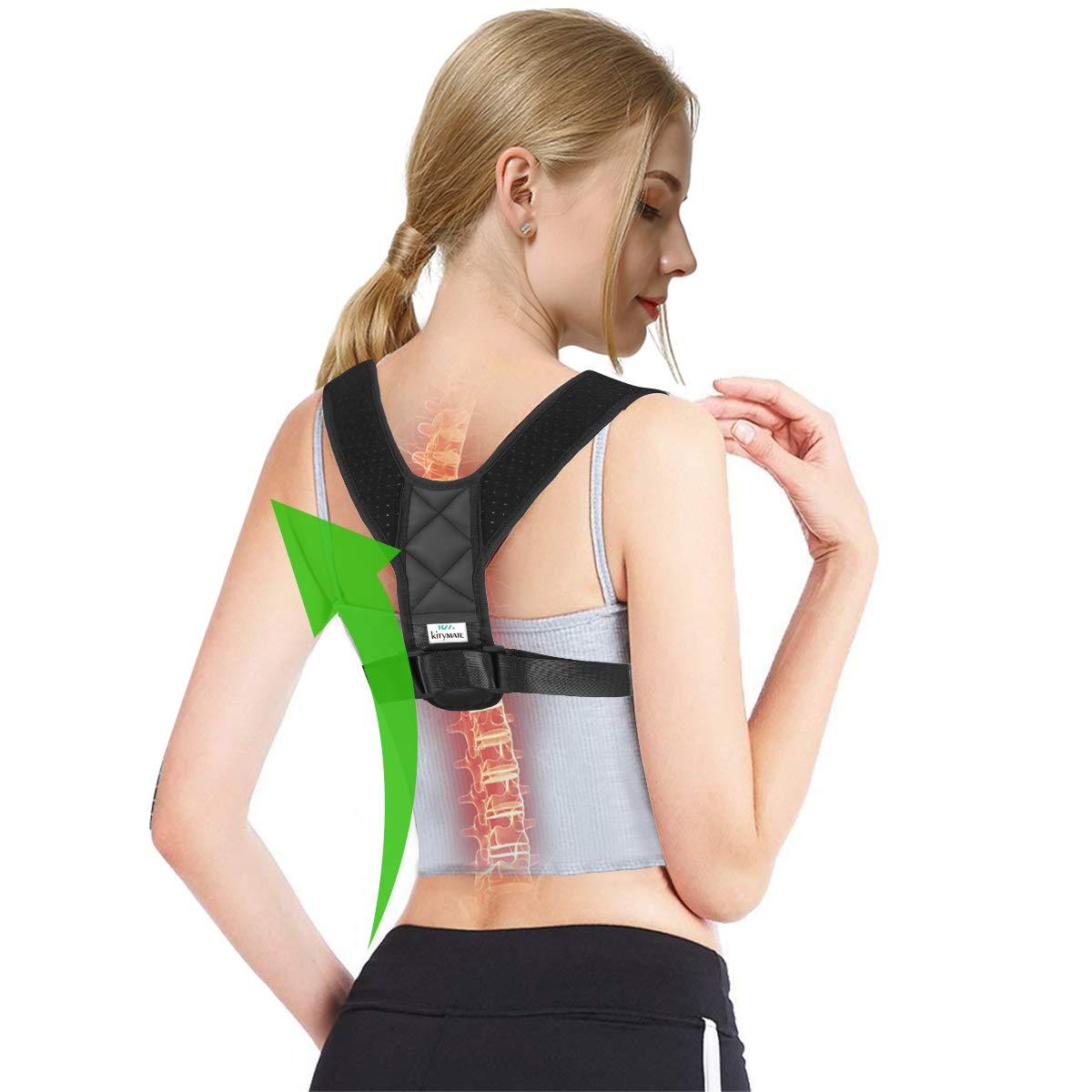 Kitymate Effective Posture Corrector & Back Support Brace for Women and Men, Adjustable Clavicle Brace,Improve Thoracic Kyphosis, Shoulder Support, Upper Back & Neck Pain Relief