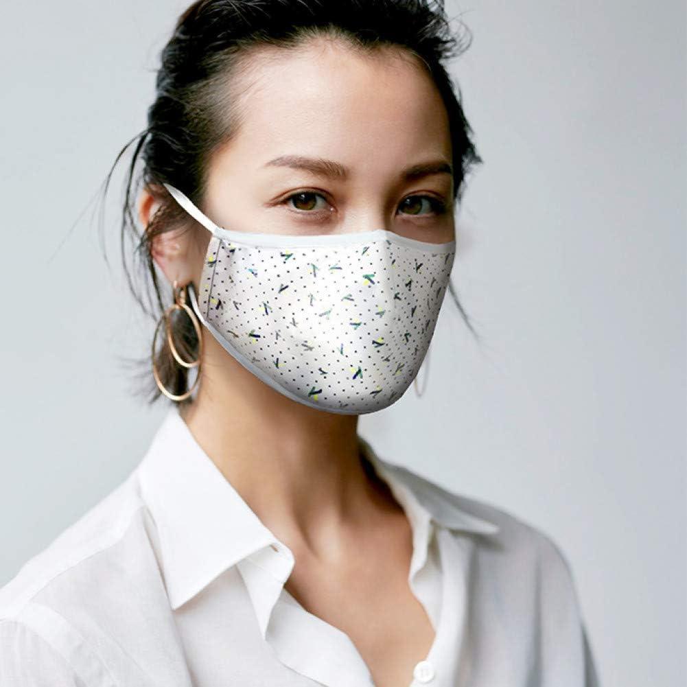 MKDASFD Mascaras Protección Diaria para Hombres y Mujeres Las máscaras Blancas de Moda se Pueden Limpiar Máscaras Transpirables con protección Solar a Prueba de Polvo Ajustable