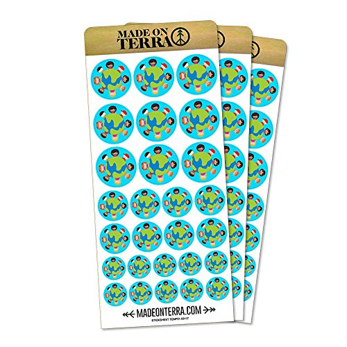 Kids Around The World Blue Removable Matte Sticker Sheets Set