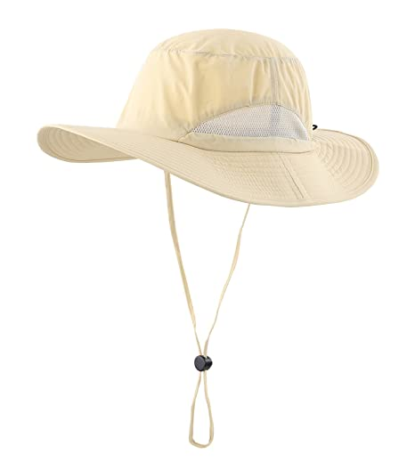 59ea9a05831 Home Prefer Outdoor Sun Cap Fishing Hat Camouflage Bucket Mesh Boonie Hat  (Light Khaki)