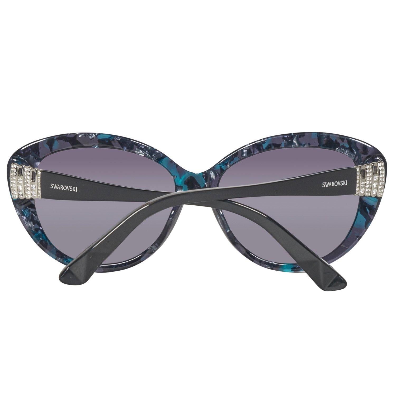 Swarovski Damen Sonnenbrille SK0112-5855B, Blau (Coloured Havana), 58