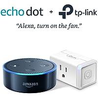 Amazon Echo Dot Speaker w/ Alexa + TP-Link Kasa Smart Wi-Fi Plug