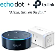 Echo Dot (2nd Generation) - Black with TP-Link Smart Plug Mini