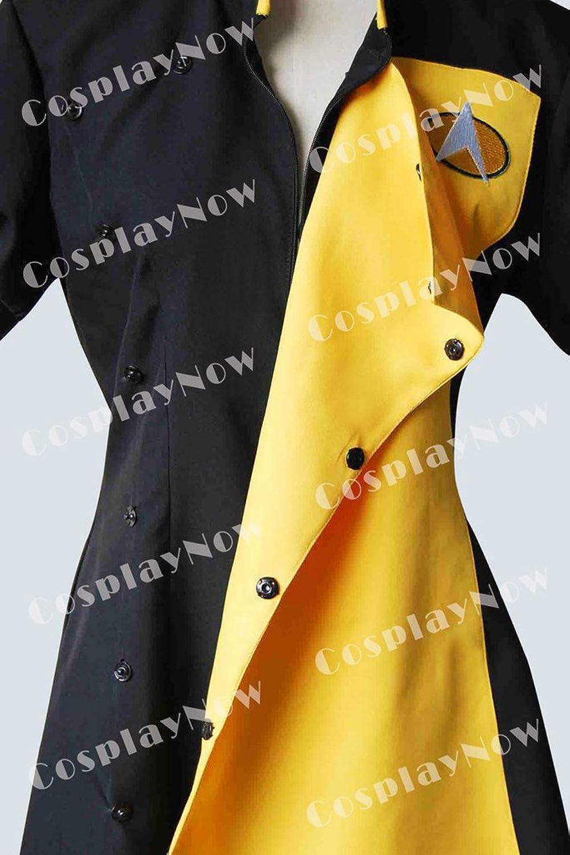 Amazon.com: CosplayNow Star Trek TNG Skant Cosplay Costume Uniform Yellow:  Clothing
