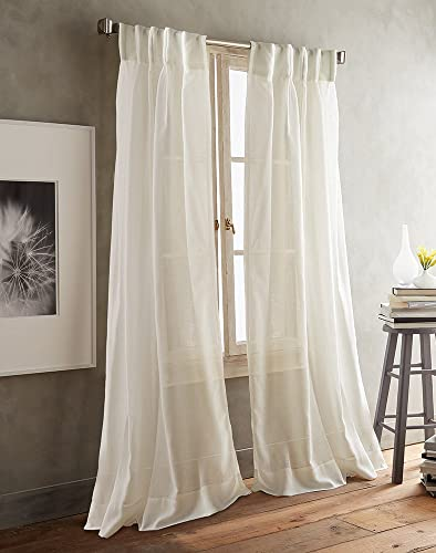 DKNY Paradox Inverted Pleat Sheer Window Curtain Panel Pair