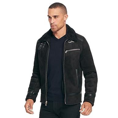 1aab969d0 Black Rivet Mens Fauxshearling Jacket W/Fauxfur Lining Black