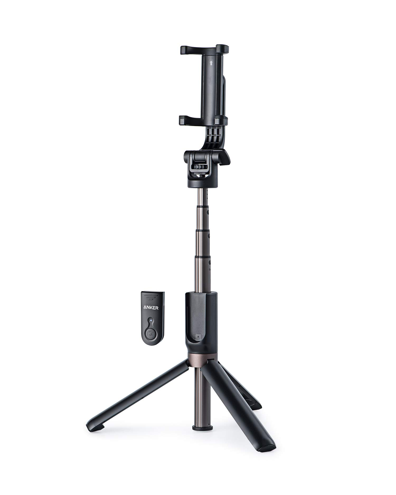 Anker Bluetooth Selfie Stick, Extendable and Tripod Stand Selfie Stick with Wireless Remote for iPhone XR/XS/X/8/8 Plus/7/7 Plus/Se/6s/6/6 Plus, Galaxy S9/S8/S7/S6, Android, GoPro, More