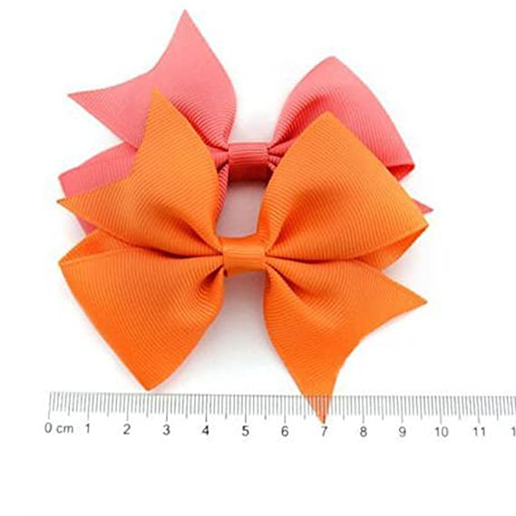 2b6cad95ba94 Amazon.com  Fanala Girls Ribbon Bow Hair Clip Kids Alligator Clips Party  Hair Accessories 10pcs Facial Hair  Clothing