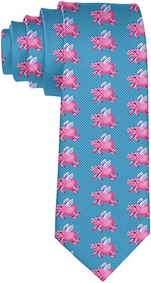 Corbata de moda para hombre Corbata rosada linda de los cerdos ...