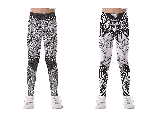 142a920639d8a SARAMI LIAM 2/3 Packs Tights Full Printed Stretch Girls Leggings Pants Kids  and Children
