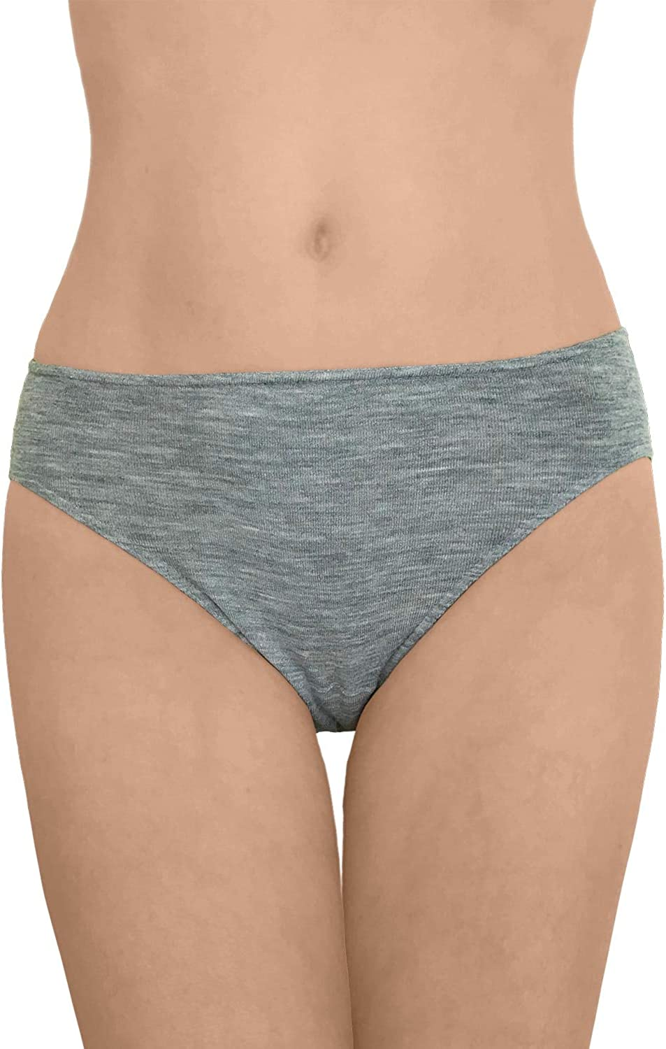 Women's Thermal Panties Briefs: Moisture Wicking Merino Wool Silk