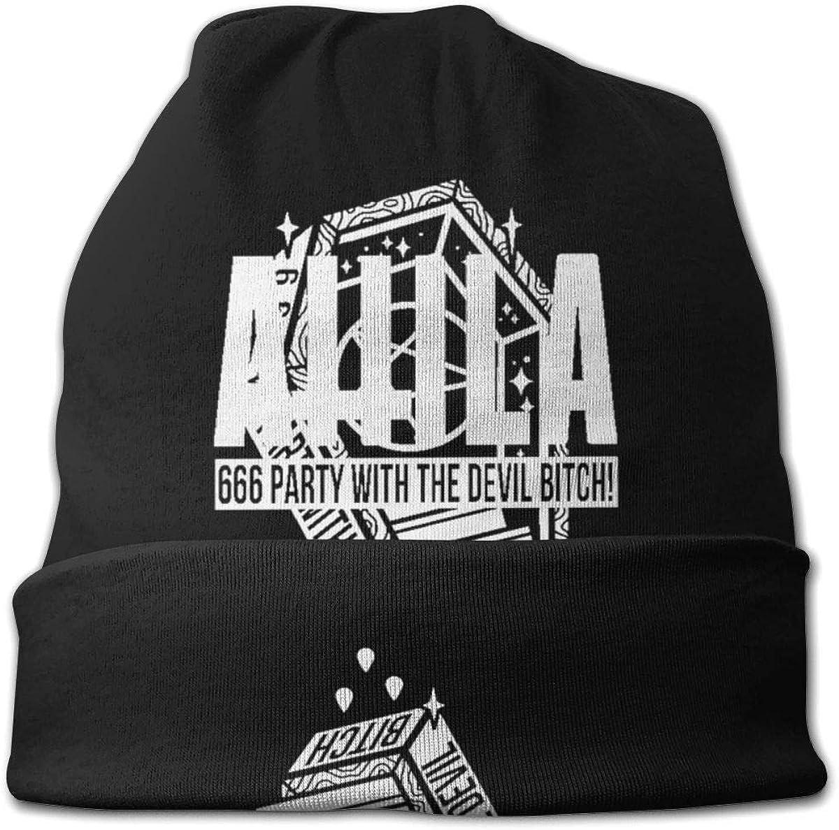 JDHFJ Kid s Attila Coffin Beanie Hat Novit/à Warm Skull Knit Hat Slouchy Soft Headwear Cuffed Cap Black