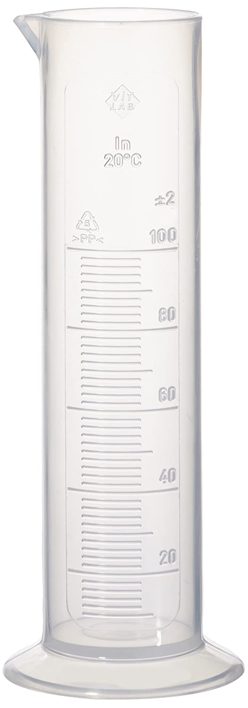 Neolab E-4036mesurant Cylindre Forme Basse 100ml/5ml en polypropylène à base ronde