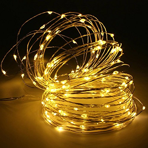 String Lights Qatar : SurLight Dimmable Led String Light 17ft 50LEDs Silver Wire Waterproof Fairy Starry String Lights ...
