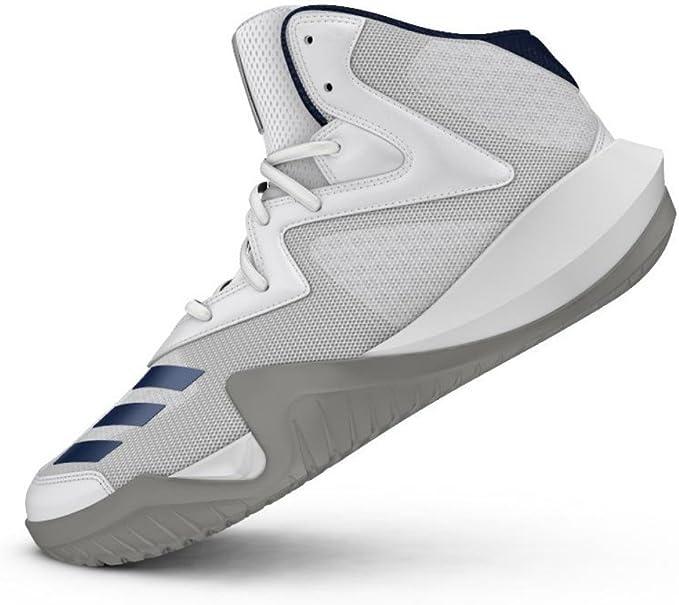 adidas Crazy Team 2017 Chaussures de Basketball Homme, Blanc