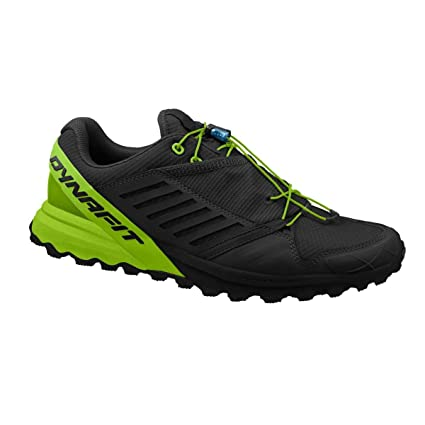 Dynafit Mens Alpine Pro Trail Running Shoes Black/DNA Green 8