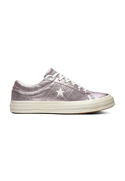 Converse Unisex Adults' Cons One Star Metallic Leather Ox Low Top Sneakers