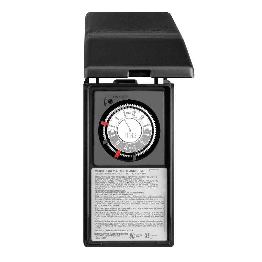 Intermatic ML88T 88-Watt Power Pack with Timer and Ground Shield