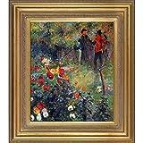 overstockArt RN2722-FR-446G20X24 Renoir Garden in the Rue Cortot Montmartre with Mediterranean Gold Frame, Gold Finish
