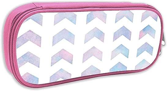 Estuche de lápices Infantil,Flecha Dividida patrón Chevron en algodón de azúcar Acuarela_5905, Rosa: Amazon.es: Juguetes y juegos