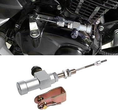 Universal Black Motorcycle Hydraulic Clutch Master Cylinder Rod Brake Pump Kit