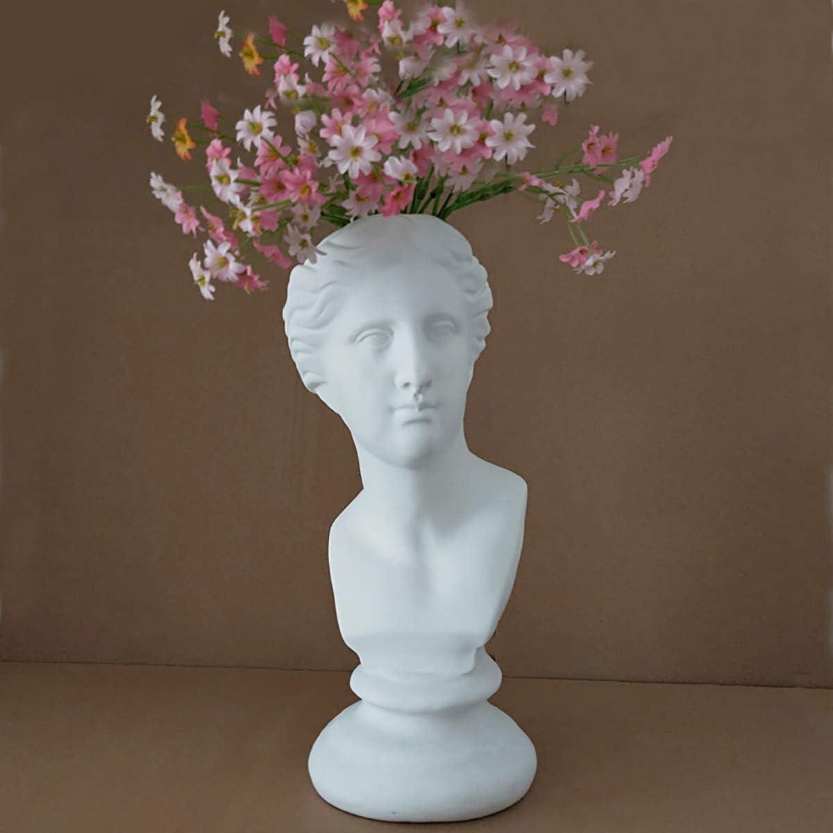 LKXHarleya 11.8 Inch Classic Venus de Milo Resin Statue Statue Vase Heads Planter Sculpture Replica Aphrodite Home Garden Decor