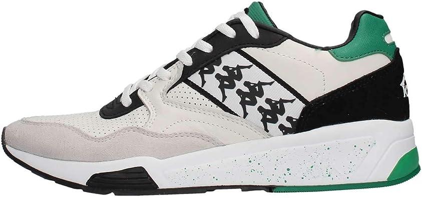 KAPPA Zapatos de Hombre Zapatillas Bajas 3037IM0 949 222 Banda Luxor 1 Talla 40 Blanco/Verde: Amazon.es: Zapatos y complementos