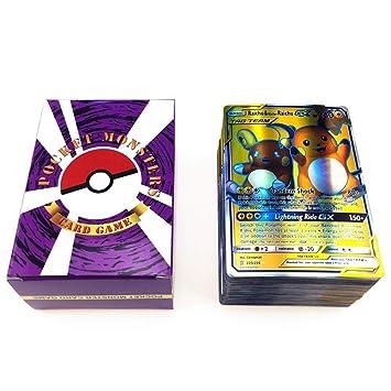 Martialart Cartas de Pokemon Cartas Coleccionables de Holo Cartas de Estilo TCG EX Arte Completo Incluyendo Equipos de Etiqueta 80 Mega 20 GX 20