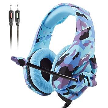 1896beef7cf ATUTEN Gaming Headset - Onikuma K1-B 3.5mm Over-ear Stereo Gaming Headphones