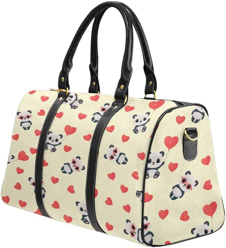 InterestPrint Large Duffel Bag Flight Bag Gym Bag Strawberry
